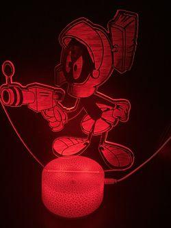 Beautiful Marvin The Martian 3d Lamp Thumbnail