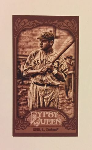 2012 Topps Gypsy Queen - Babe Ruth Seipa Bordered Mini - Card #300 - Serial #'d 38/99 - NM Condition for sale  Tulsa, OK