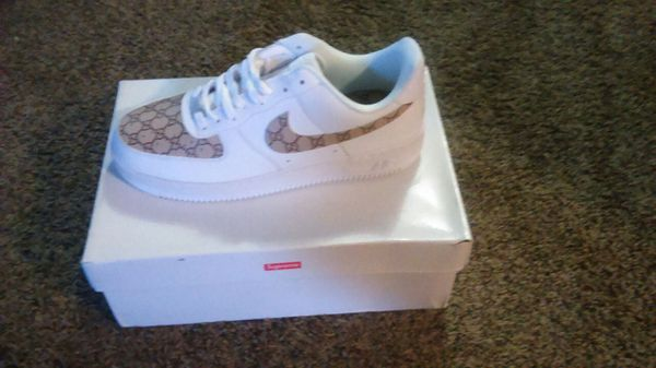 Nike Air Force Ones Supreme Gucci Sz 10 For Sale In Fresno CA