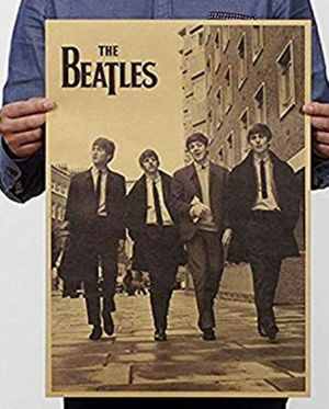Photo The Beatles Street Art Poster Vintage Old Style Decorative Poster Print Wall