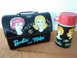 Barbie and Midge 1964 Vinyl Lunchbox and Thermos **50.00 FIRM** for Sale in Orlando, FL