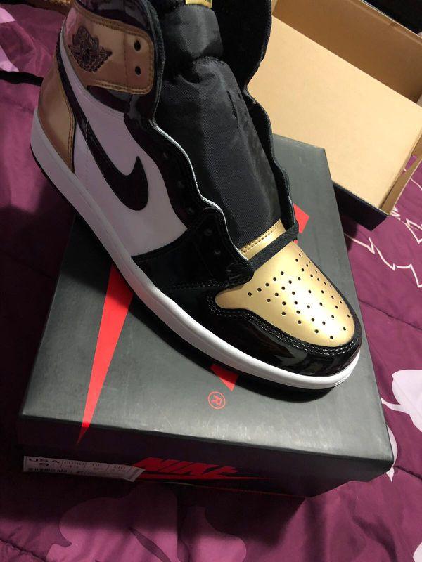 7f82e82bdab080 gold toe 1 stockx Size 9.5 gold toe dead stock Jordan retro 1 for Sale in  Philadelphia .