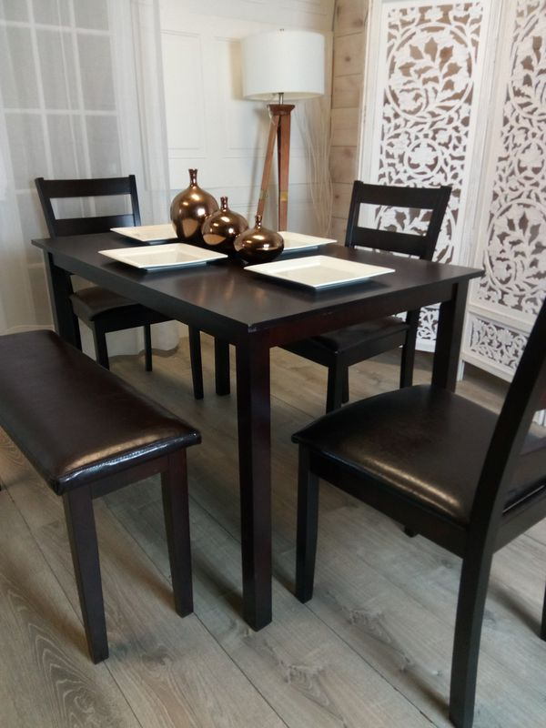 New Wooden Dining Room Tables Kitchen Dinette Table Chairs Bench Dinettes  for Sale in Baltimore, MD - OfferUp