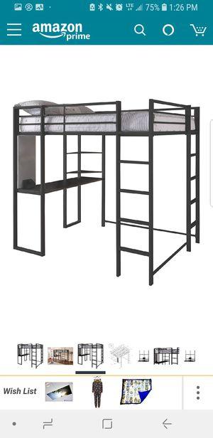 Full size loft bed with desk & shelves for Sale in Bethel Park, PA