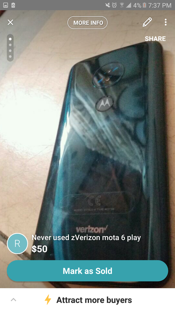 meet 9eba9 d63d5 Moto 6 Verizon new non activated for Sale in Vancouver, WA - OfferUp