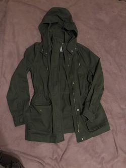 Forever 21 green coat Thumbnail