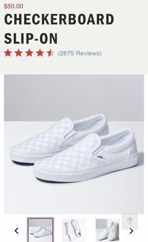 Photo Brand New Slip On Checker Vans size women's 5