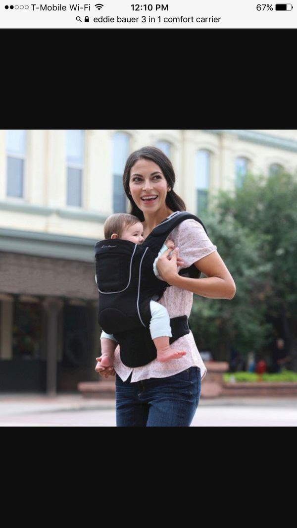 beba93d5aa3 Eddie Bauer 3-in-1 Comfort Baby Carrier - Black for Sale in Lynnwood ...