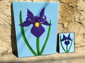 Iris Flower Painting Framed Prints for Sale in Philadelphia, PA