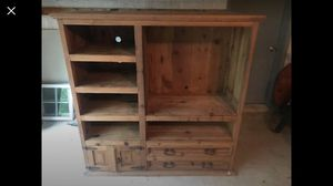 Solid Wood TV Entertainment Center- Display Storage for Sale in Colesville, MD