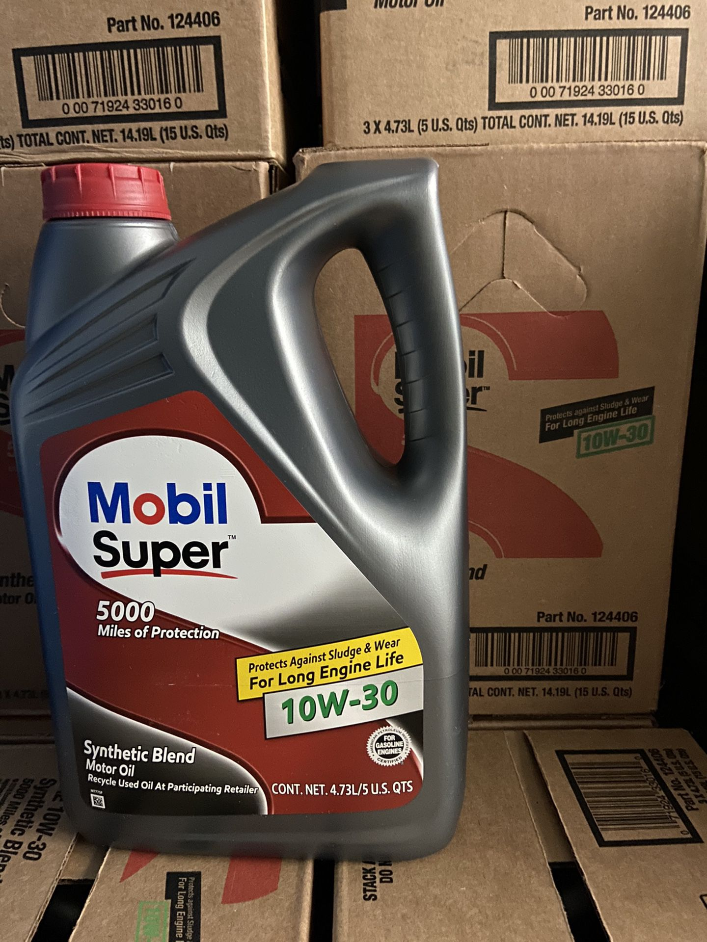 Aceite Mobil Súper 10w-30 Synthetic Blend Galon