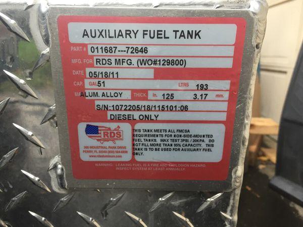 51 gallon RDS aluminum deisel tank for Sale in Olympia, WA