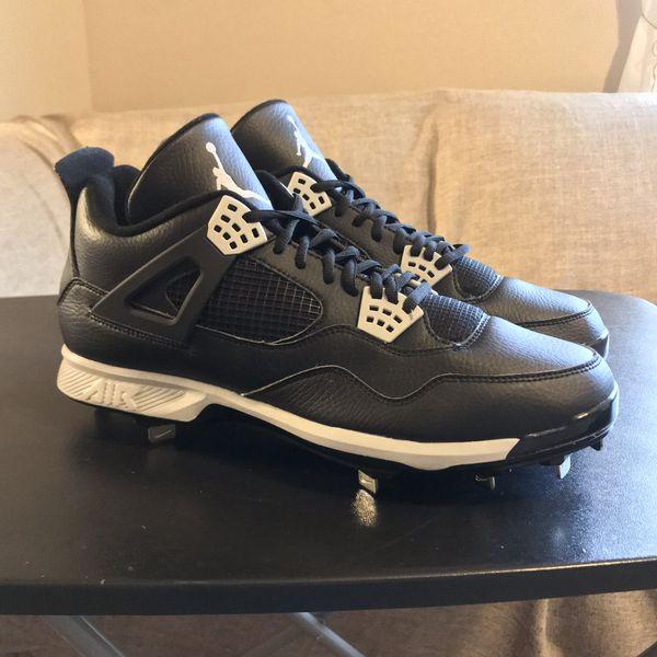 b8c75235e2bb New Nike Air Jordan Retro 4 Baseball Cleats Men S 13 5 For Sale In