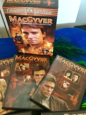 The Complete 1 st Season 6 DVD disc Movies / MacGyver Ready for Adventure 😎👍 🍿🎥📀💿 for Sale in Springfield, VA