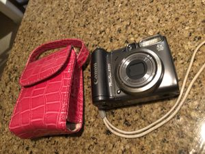 Canon PowerShot A590IS 8MP Digital Camera with 4x Optical Image with case. for Sale in Gaithersburg, MD
