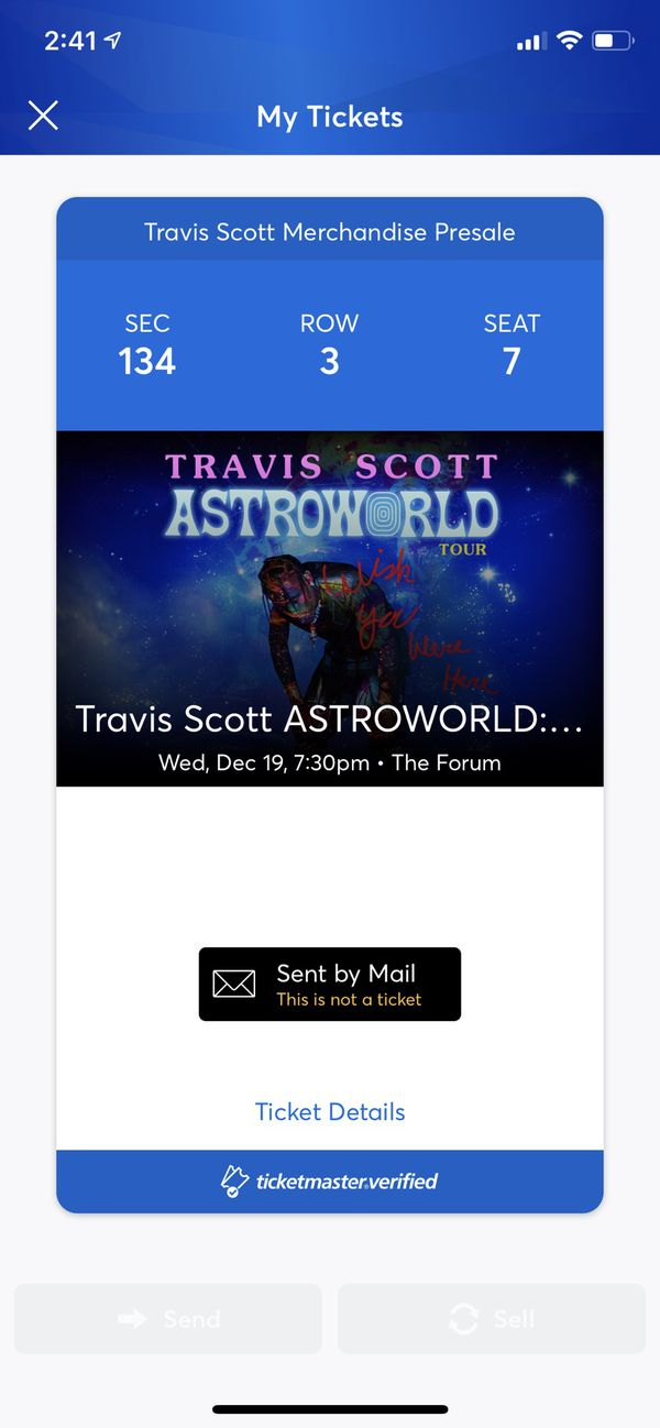 60aa303c77d7 Travis Scott tickets for Sale in Corona, CA - OfferUp
