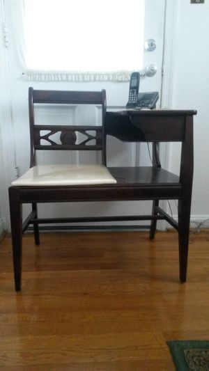 Solid cherry wood telephone chair for Sale in Silver Spring, MD