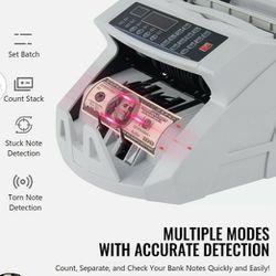 Money Bill Counter Machine Cash Counting Counterfeit Detector UV MG Bank Checker Thumbnail