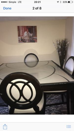 Beautiful 2 years oldcosmo Counter-Height Table and 4 Chairs - Merlot -$1400 value for Sale in Falls Church, VA