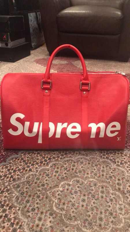 ba2bac17eb2b Louis Vuitton X Supreme Keepall 45 Red Duffle Bag for Sale in San ...