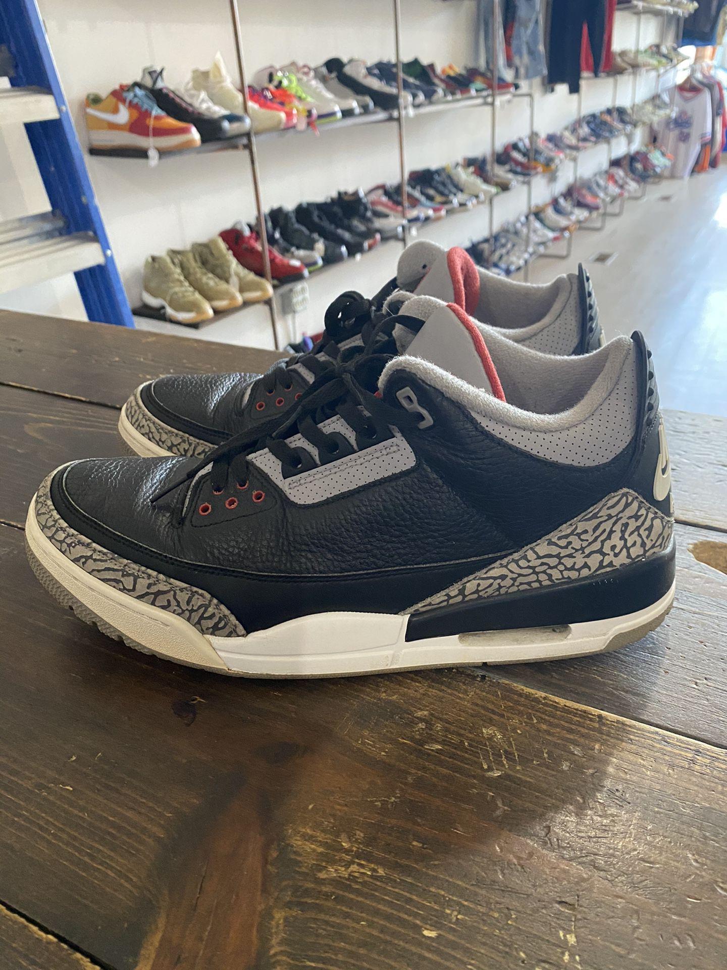 Air Jordan black cement 3 size 13