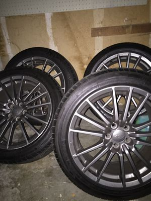 "Gun metal grey Original 18"" in stock Subaru sti wheels for Sale in Seattle, WA"