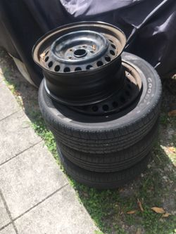 """Steel wheels 16"""" 5x114 with 205 65 r16 tires Thumbnail"""