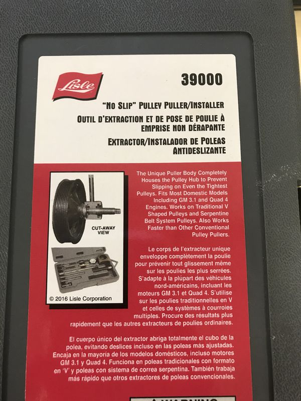 Pullers & Extractors Lisle 39000 No Slip Pulley Puller