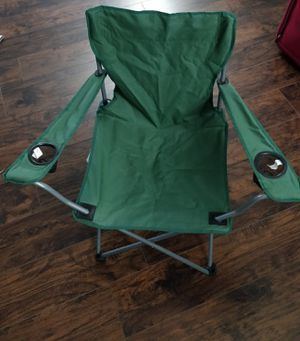 Camping chair, foldable, with carrying case for Sale in Chicago, IL