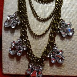 $10 Arizona Jean Company Crystal And Metal Necklace Thumbnail