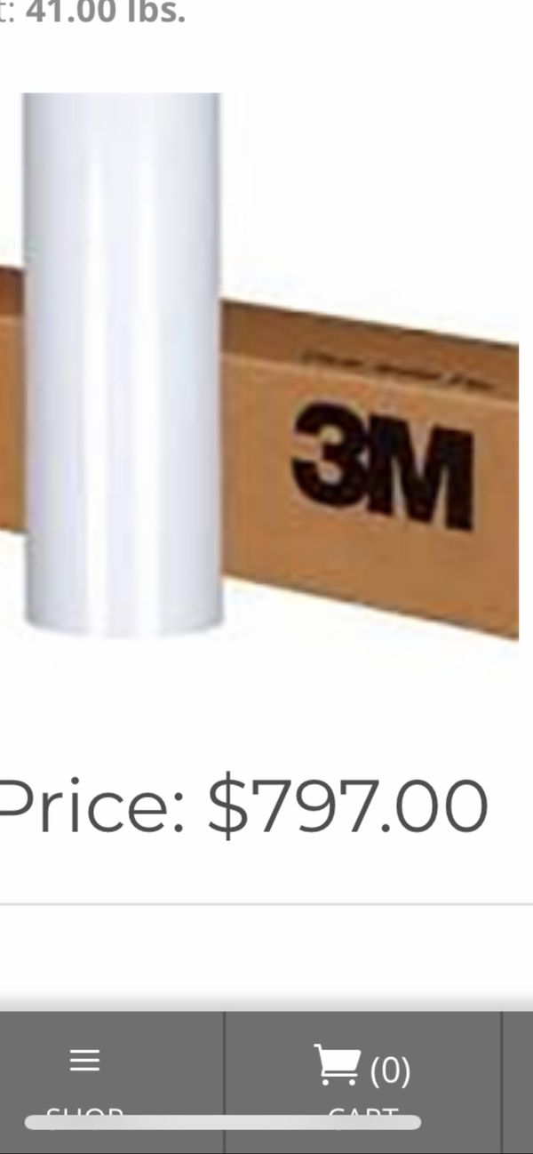 3M vehicle wrap material 180 CV3 comply vinyl and lamination for Sale in  Spring, TX - OfferUp