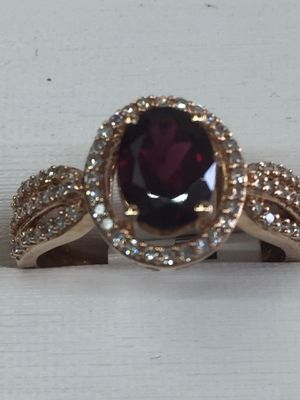 Bridal ring garnet and diamond for Sale in Orlando, FL