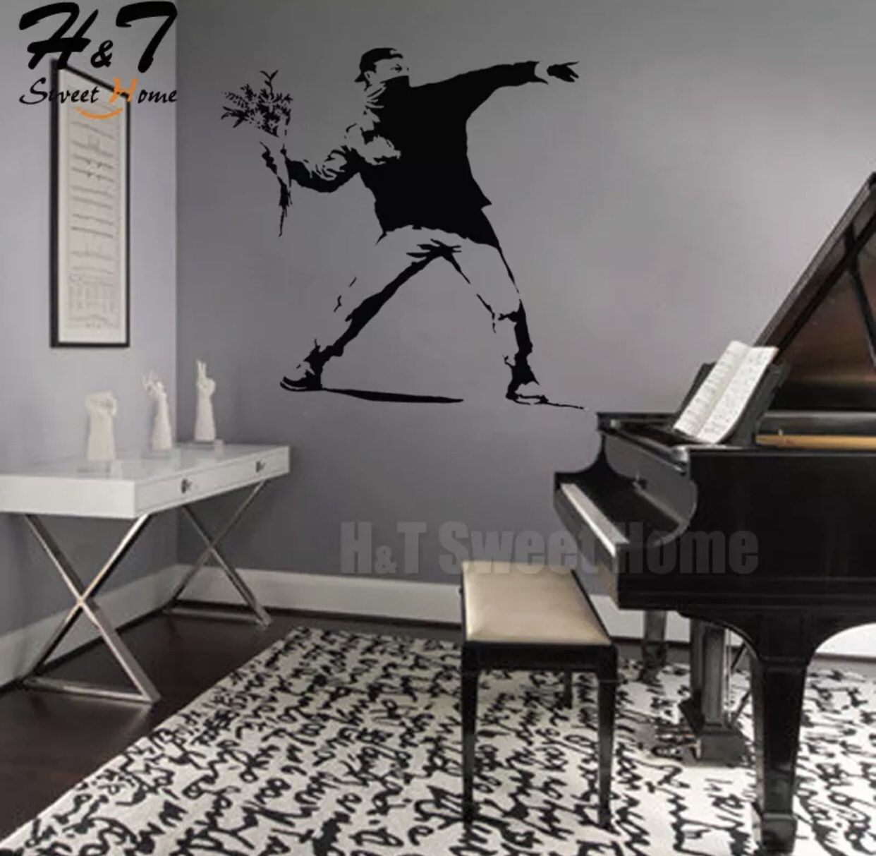 Banksy Art Vinyl Wall Decal Sticker Wallpaper
