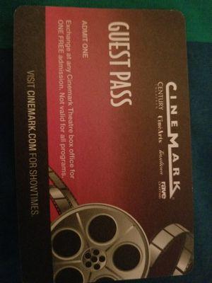 Cinemark movie tickets for Sale in Gaithersburg, MD