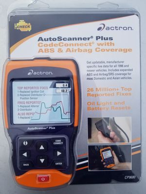 Actron Autoscanner Plus with CodeConnect Scan Tools CP9680 for Sale in  Clackamas, OR - OfferUp