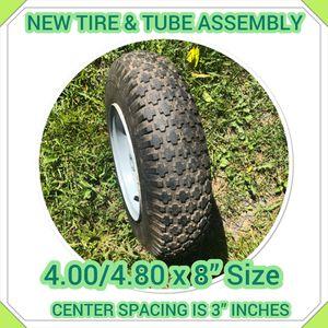 Brand New Tire Tube 4 80 4 00x8 4 Inch Center Wheel Barrel