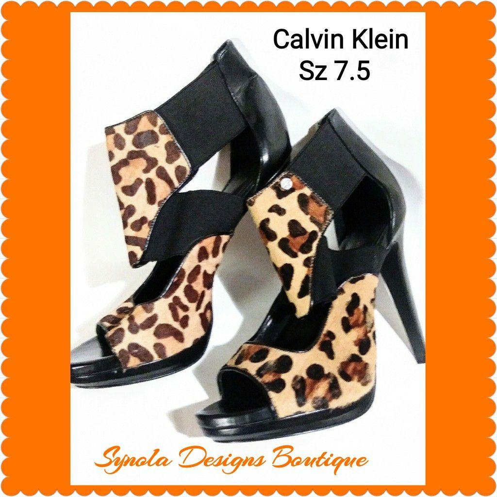 Calvin Klein leopard heels 7.5