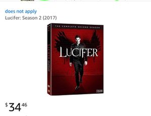 Lucifer the complete second season for Sale in Cleveland, OH
