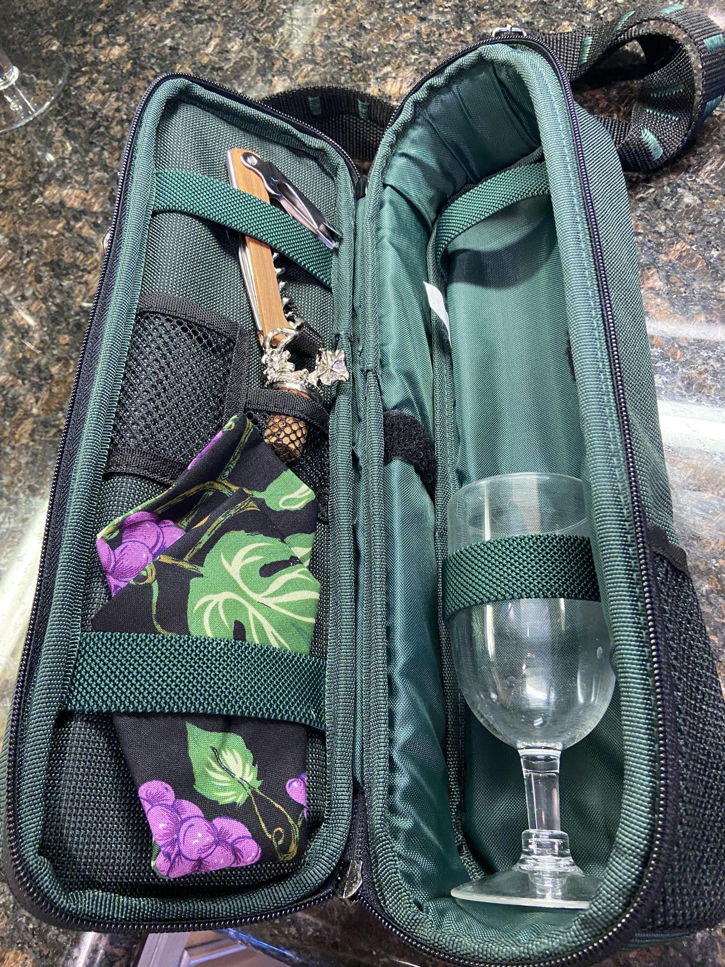Wine Bottle Picnic Carrier