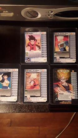 Dragon ball z character cards collectors goku lv 1-5 Thumbnail