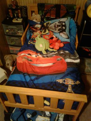 Solid oak wood Toddler bed, used for sale  US