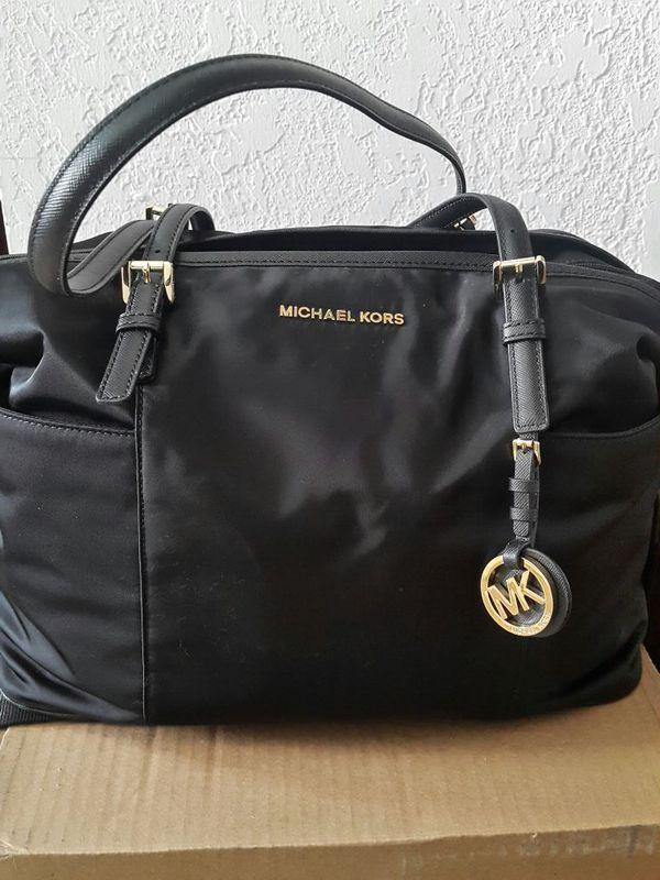 806308bb58a5 Michael Kors Jet Set Diaper Bag (black bag with shoulder strap) for ...