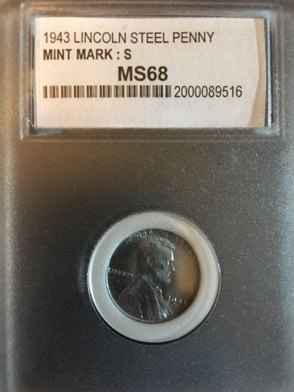 1943-s steel penny graded MS-68 for Sale in Wolcott, CT - OfferUp