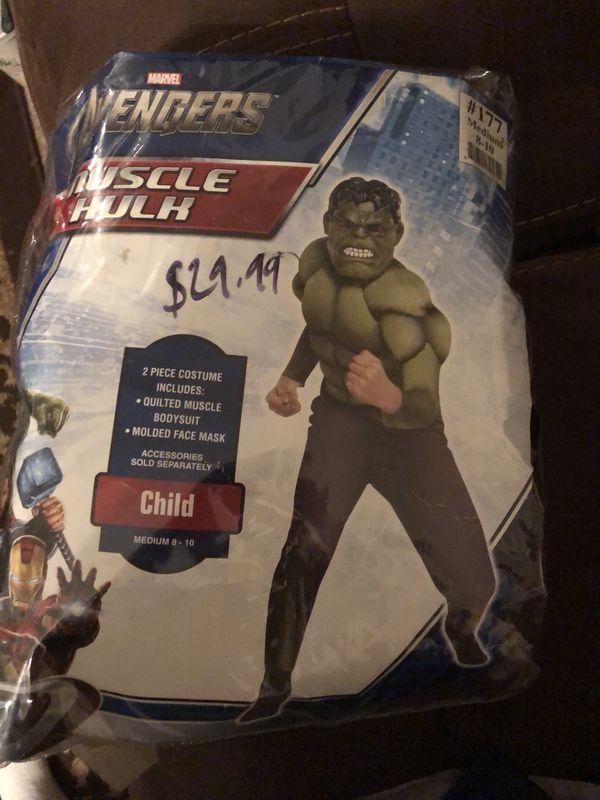 95c3e23a1af55d Child Hulk costume 8 10 for Sale in Mesa