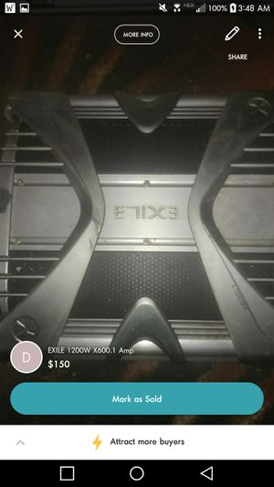 EXILE 1200W X600.1 Sub(s) Amplifier for Sale in Midlothian, VA