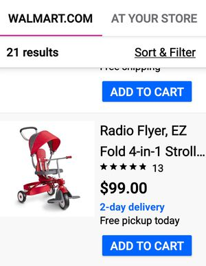 Photo $40 firm excellent condition Radio Flyer push tricycle