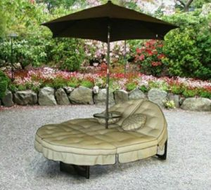 NEW Dlx 2 person Lounger with Table and Umbrella for sale  Springdale, AR