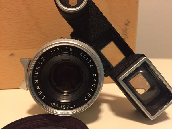 Leica 35mm Summicron with goggles  for Sale in Long Beach, CA - OfferUp