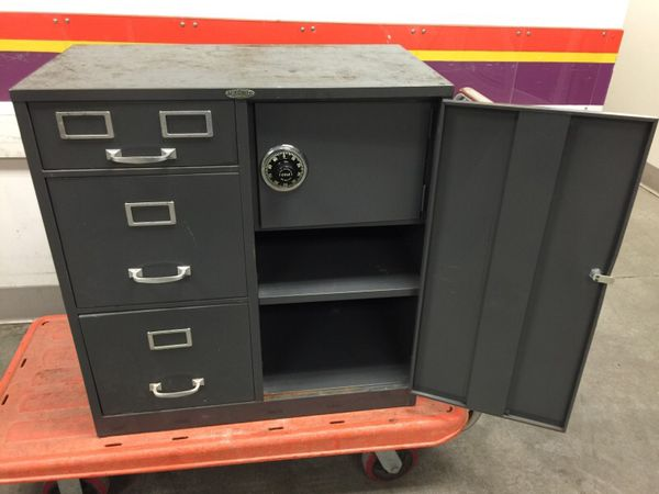 New Cole Steel File Cabinet with Safe