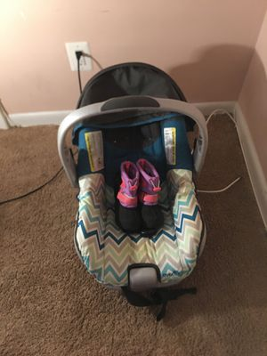Evenflo Car Seat and Snow Boots for Sale in Alexandria, VA